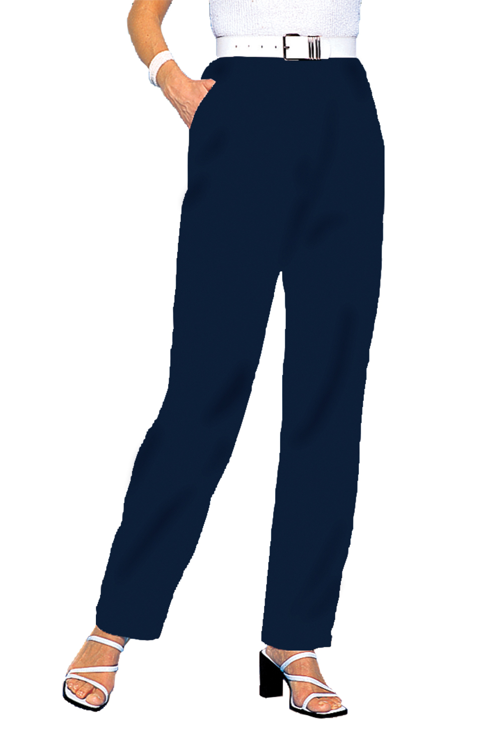 Pantalon large uni, 2 statures