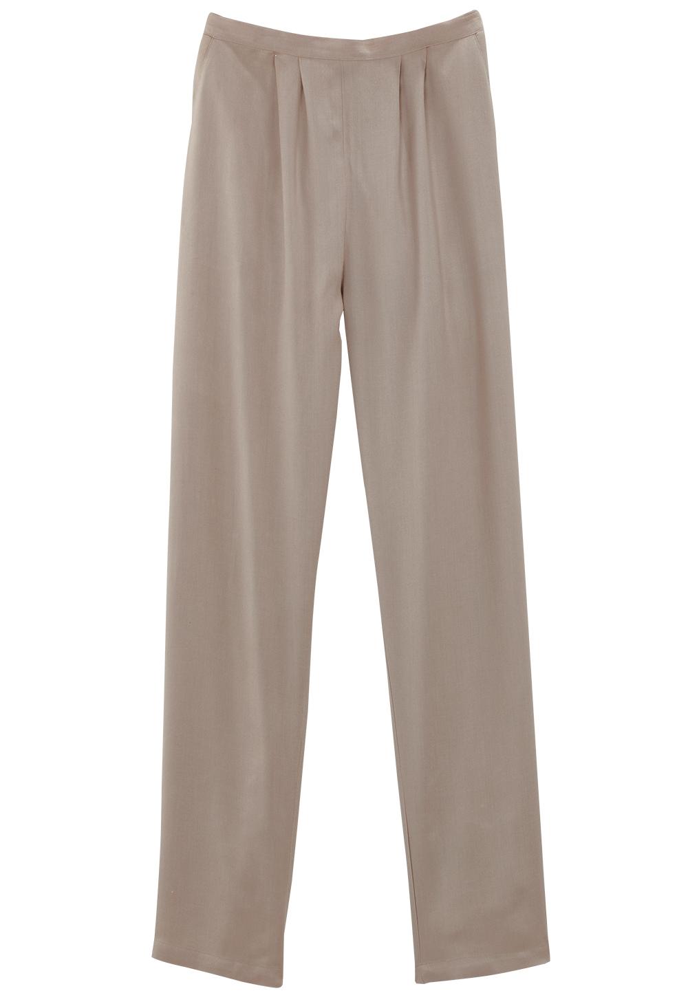 Pantalon large uni
