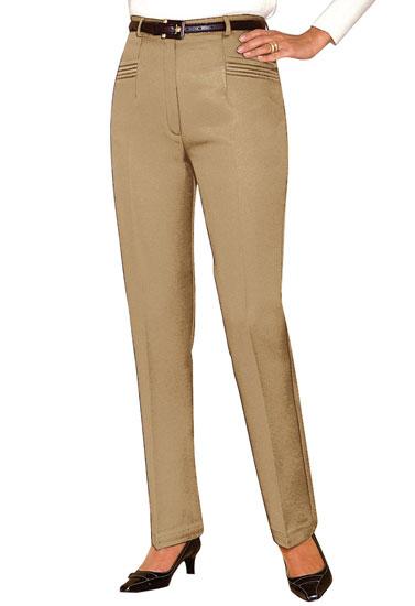 Pantalon plis piqués