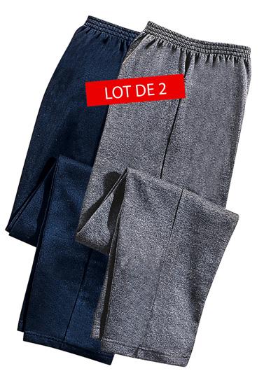 Pantalon molleton x 2