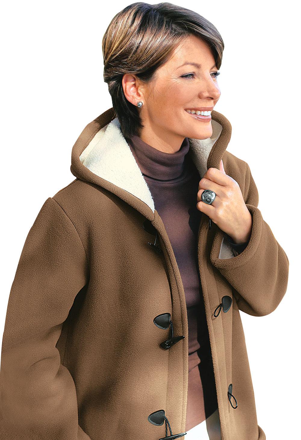 duffle coat femme capuche marron