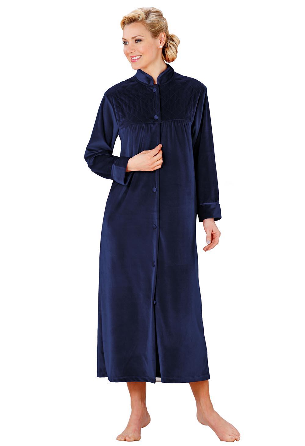 robe de chambre en velours bleu bonheur. Black Bedroom Furniture Sets. Home Design Ideas