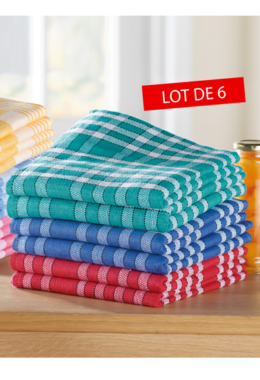 Serviette de table x 6 bleu bonheur - Serviette de table bleu roi ...