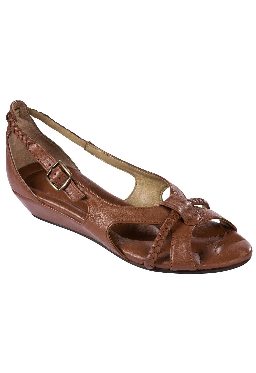 Sandales compensées chez Bleu Bonheur Sandales compensées. Ravissantes et  confortables ! Dessus, première sur mousse et doublure en cuir. e35360224954
