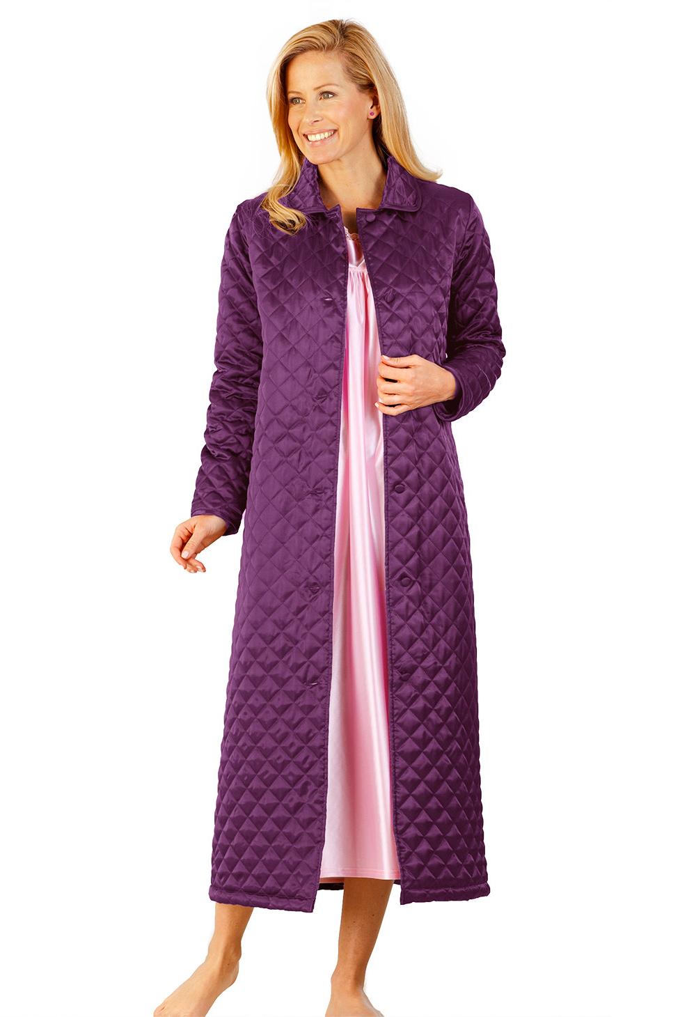 Robe De Chambre Matelassée Bleu Bonheur