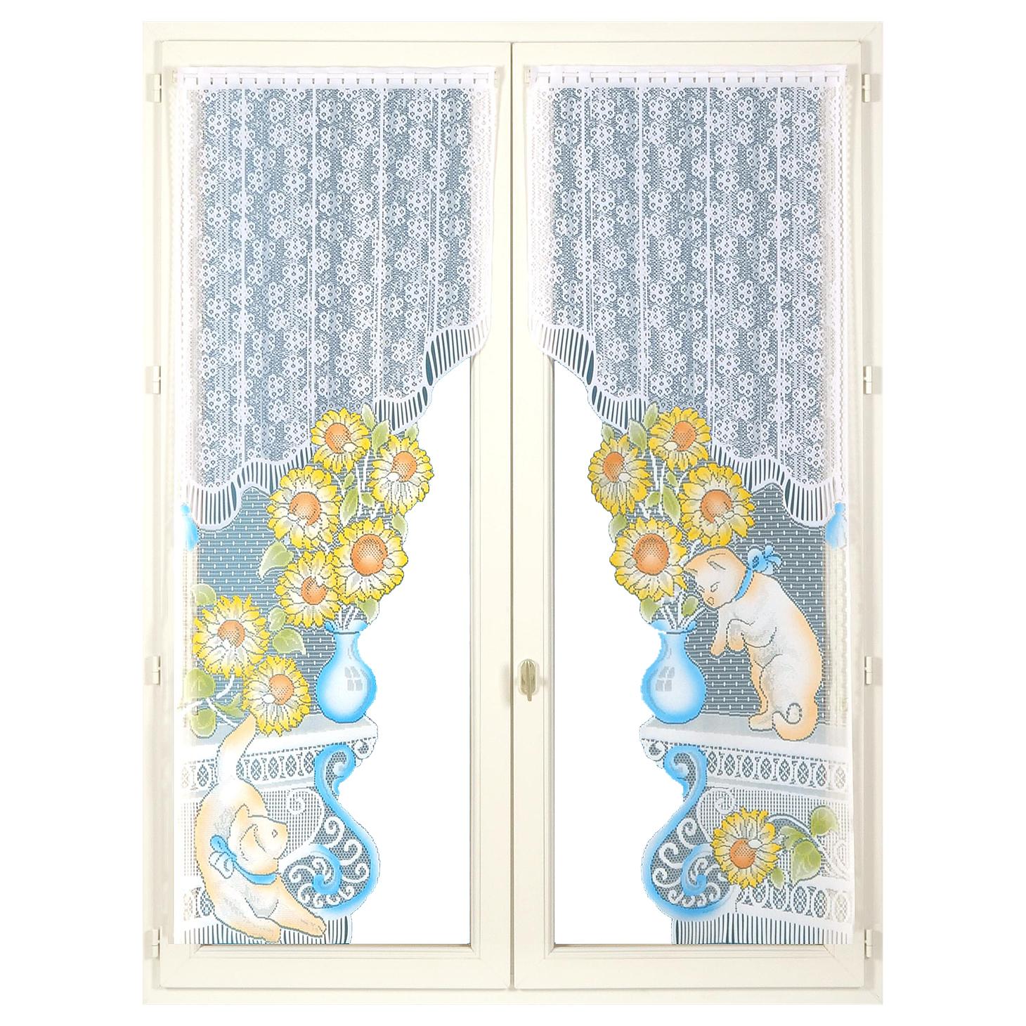paire de rideaux bonne femme bleu bonheur. Black Bedroom Furniture Sets. Home Design Ideas