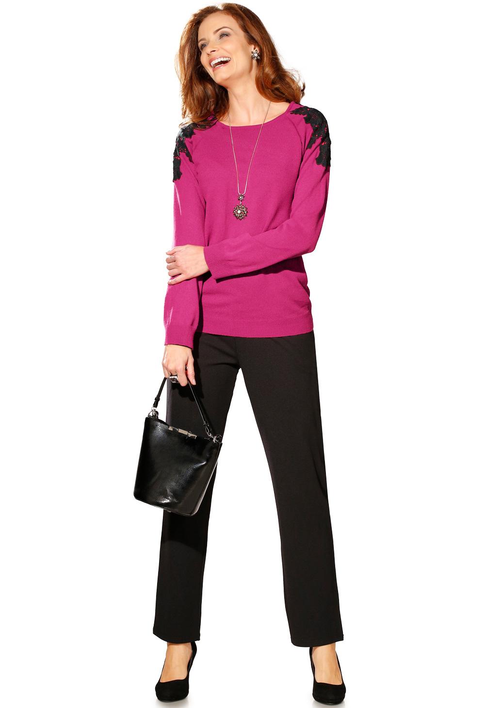 sélection premium 080fb 12faf Pull guipure et pantalon en maille, ma tenue de soirée