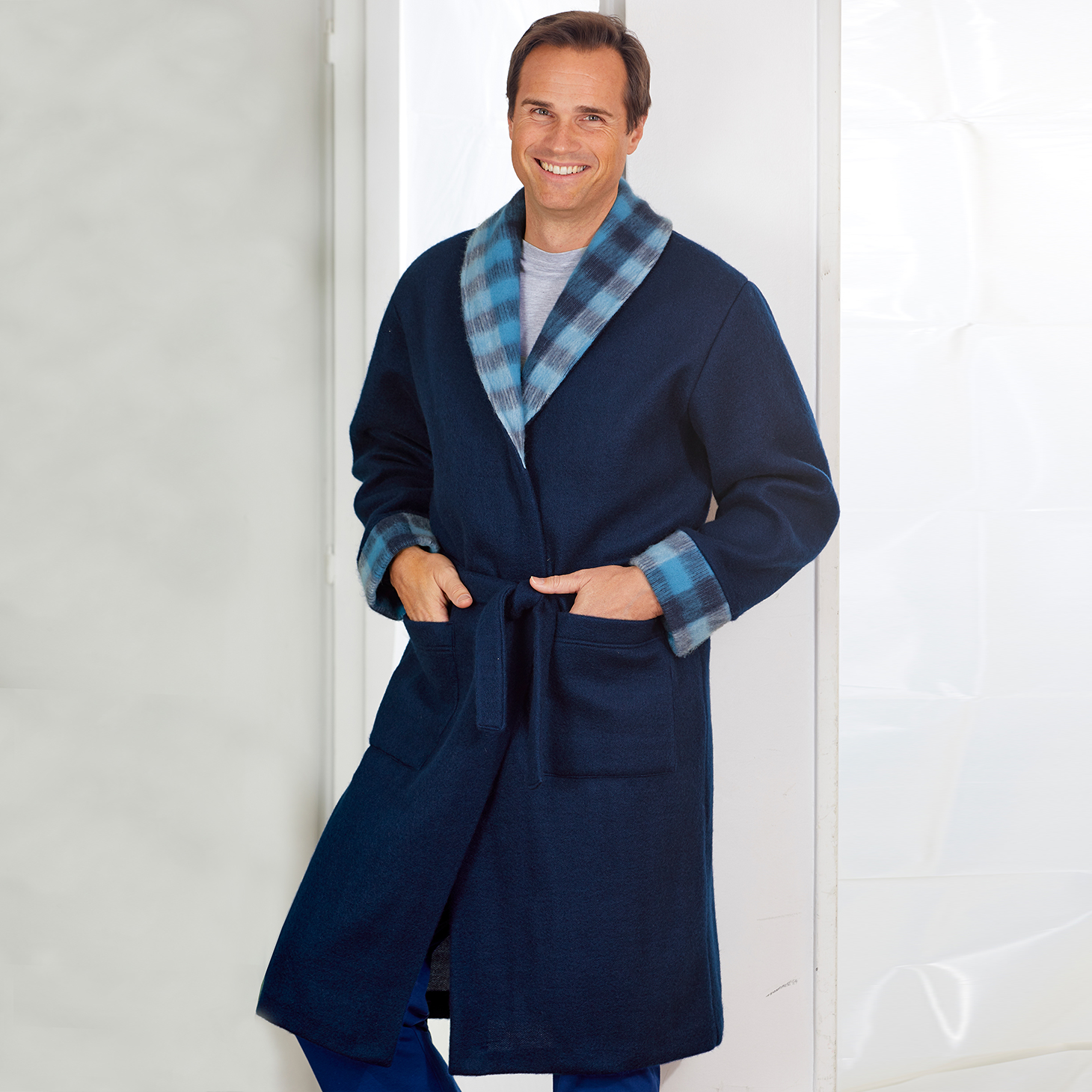 Robe de chambre homme  Bleu Bonheur