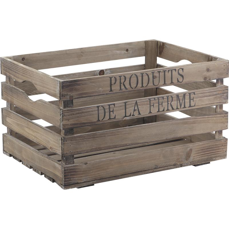 caisse de rangement en bois produits de la ferme. Black Bedroom Furniture Sets. Home Design Ideas