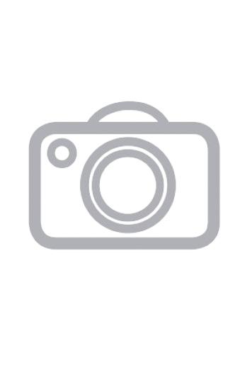 Tee-shirt long et manches courtes, col guipure et lacé, sur pantalon fluide imprimé ethnique.
