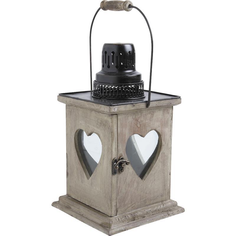 lanterne en bois vieilli. Black Bedroom Furniture Sets. Home Design Ideas