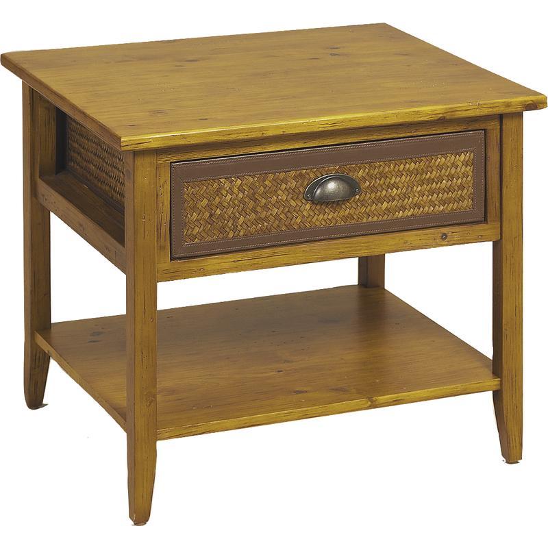 Table de nuit en bois et bambou for Dimension table de nuit