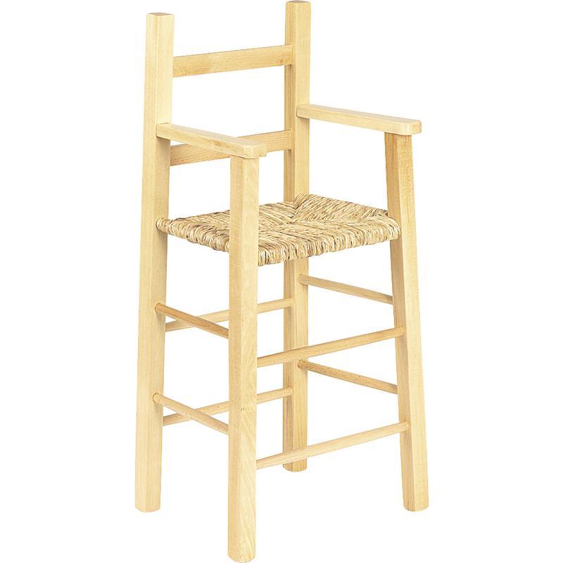 Chaise haute pour enfant en bois naturel for Chaise en bois pour enfant