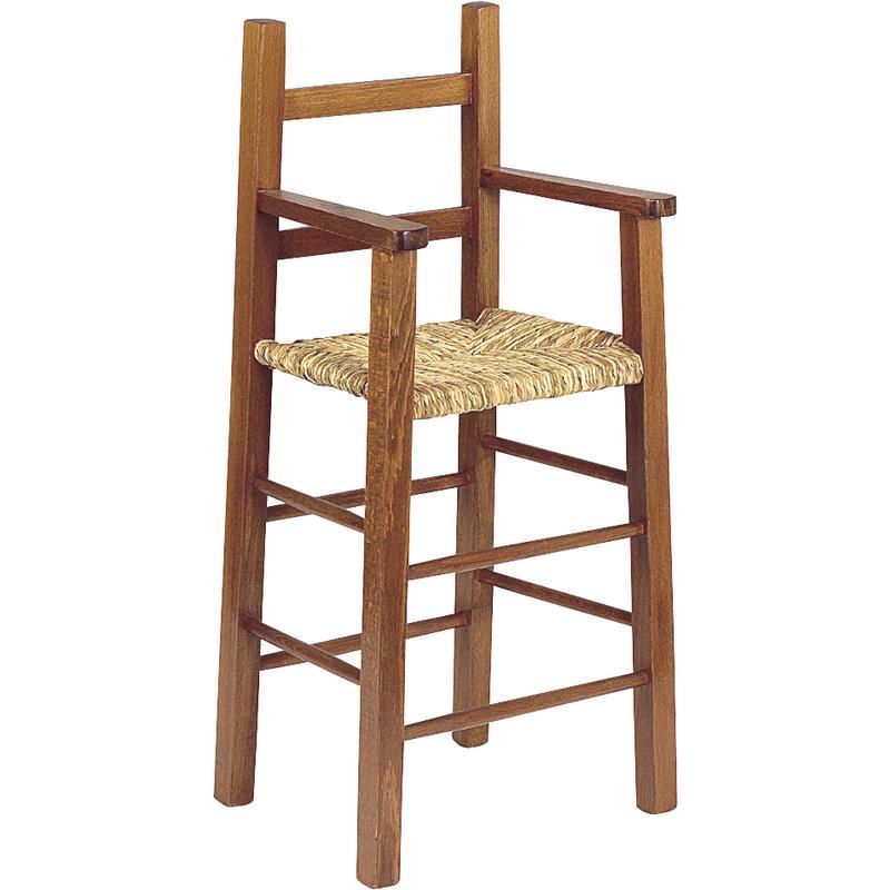 chaise haute pour enfant en bois marron