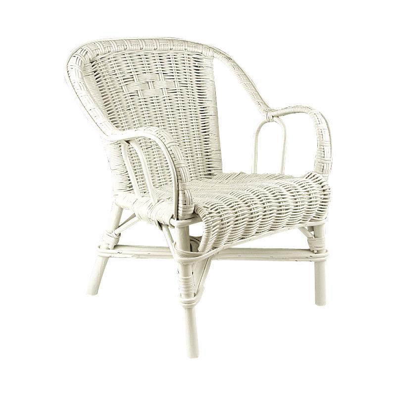 fauteuil pour enfant en rotin blanc. Black Bedroom Furniture Sets. Home Design Ideas
