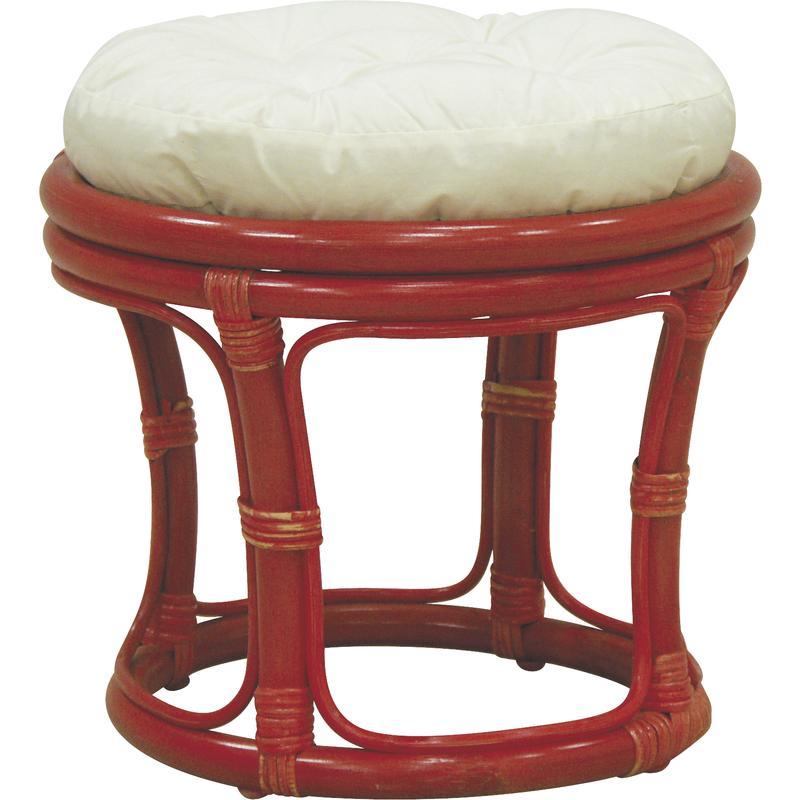 tabouret pouf en rotin rouge coussin en tissu 100 coton. Black Bedroom Furniture Sets. Home Design Ideas